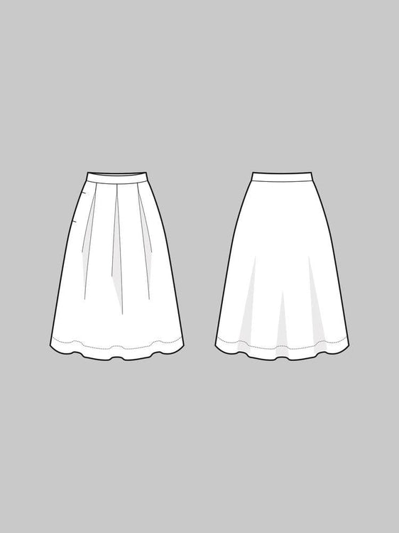 The Assembly Line - Three Pleat Skirt