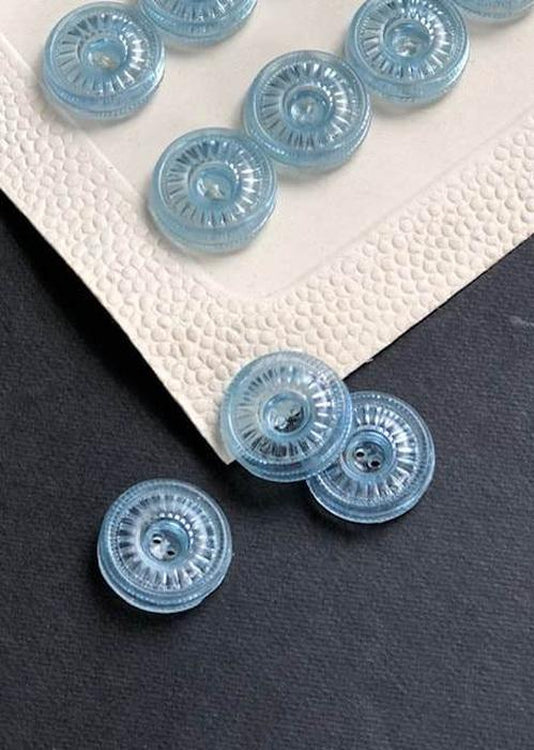 Vintage Buttons, Pale Blue. 15mm