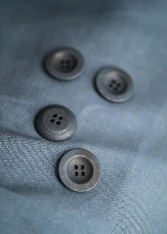 Navy Corozo Buttons 14mm, 18m, 22mm
