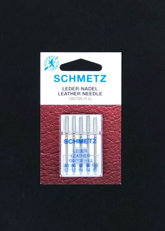 Schmetz Sewing Machine Needles - Leather, Assorted Sizes.