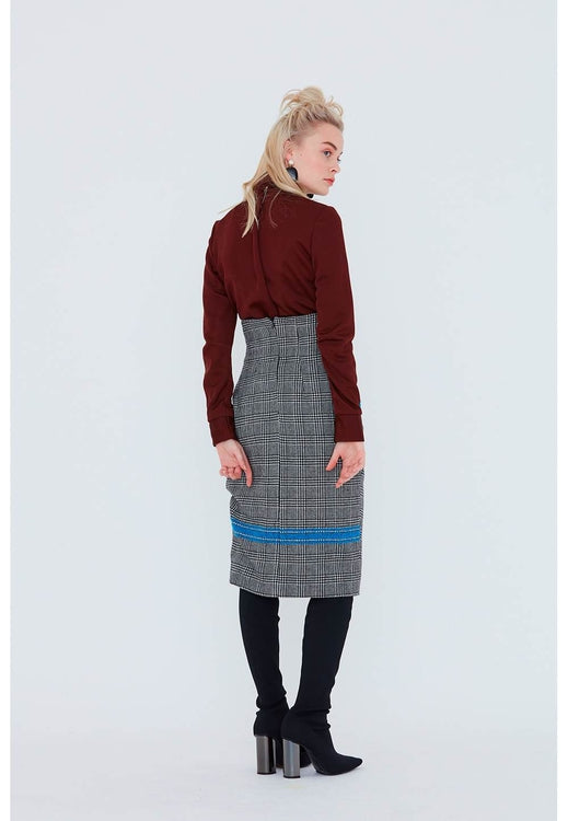 High-Waisted Skirt with Gathers.  Le 415