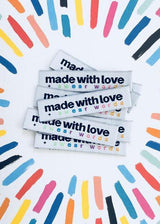 'Made with Love and Swear Words' sew in labels.  Kylie and The Machine