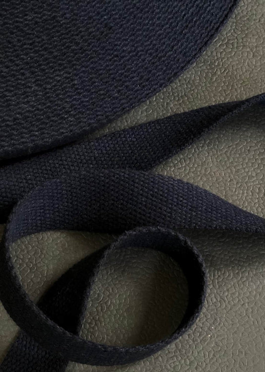 Heavy Cotton Webbing - Navy, 25mm
