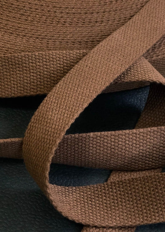 Heavy Cotton Webbing - Nutmeg, 25mm
