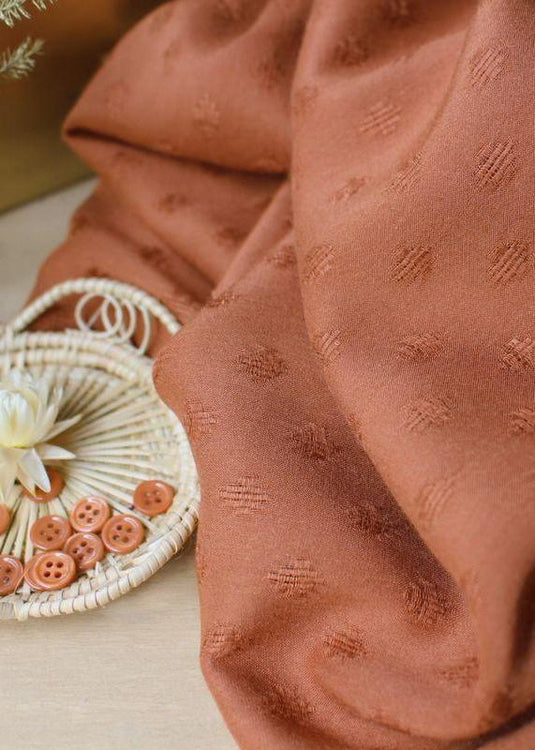 Woven Viscose - Diamond Chestnut