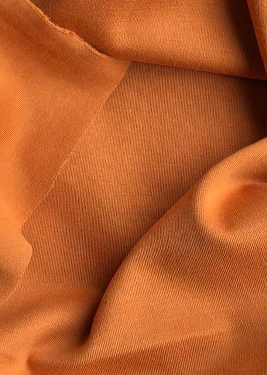 Organic Cotton/Elastane Interlock Knit -  Spice