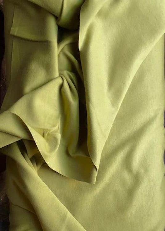 Organic Cotton/Elastane Interlock Knit -  Olive Green
