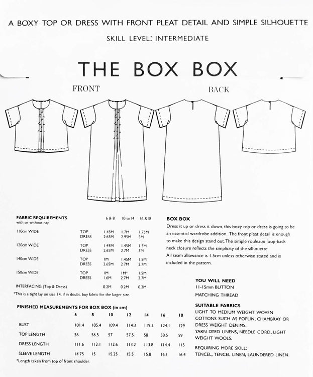 Merchant & Mills Box Box Dress and Top