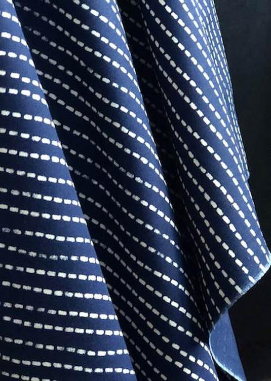 Wabash Striped Indigo Poplin