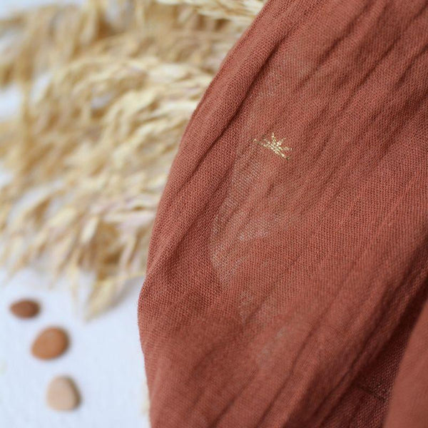 Cotton Crepe - Sunset Chestnut