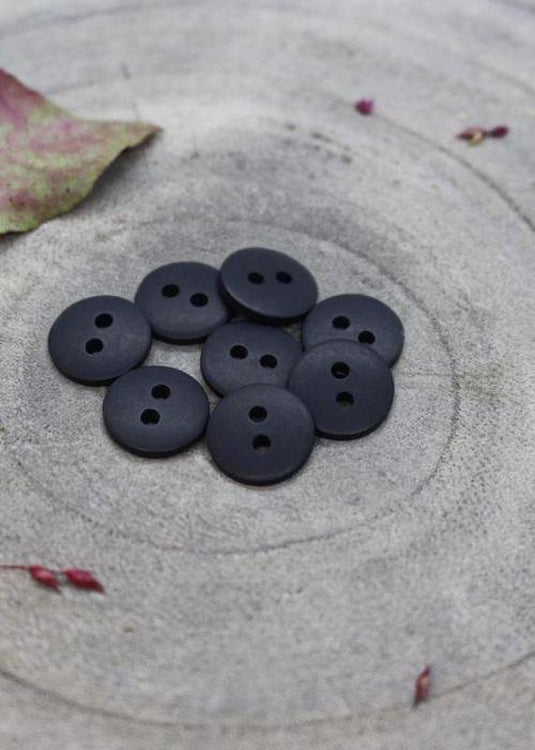 Classic Matt Buttons - Night. 10mm, 12mm, 15mm.