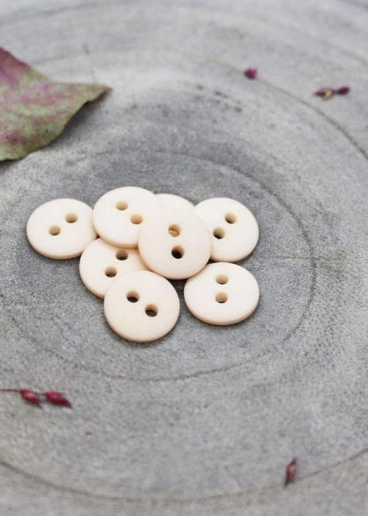 Classic Matt Buttons - Powder. 10mm, 12mm, 15mm.