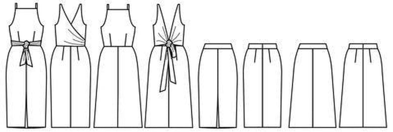 Papercut Patterns, Axis Dress and Skirt