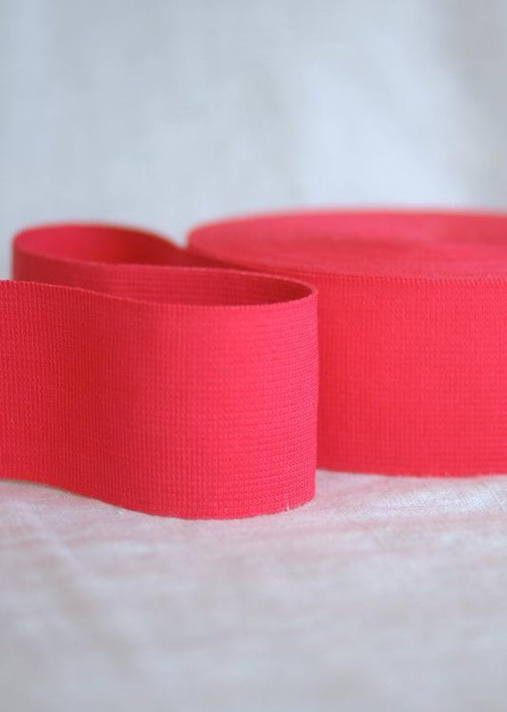 50mm Wide Elastic - Paris Pink