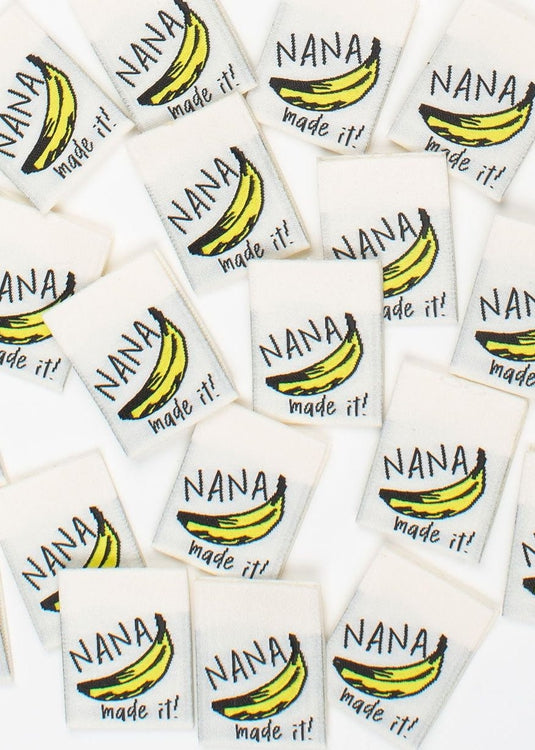 'Nana Made It!' sew in labels.  Kylie and The Machine