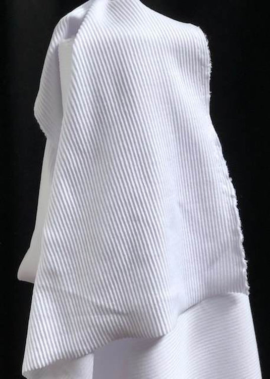 Corded Cotton Rib - Bright White