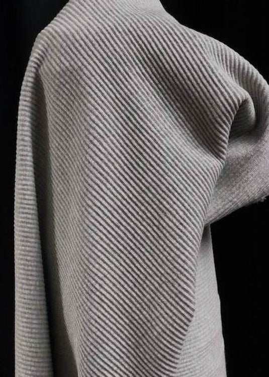 Corded Cotton Rib - Schist Grey