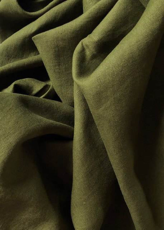 Laundered Linen - Moss Green