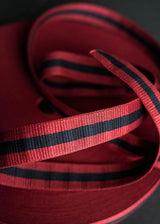 Bag Webbing - Claremont Red Navy. 40mm