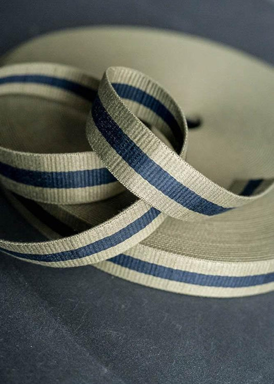 Bag Webbing - Claremont Sage Navy. 40mm