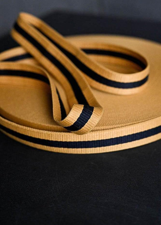 Bag Webbing - Claremont Yellow Black. 40mm