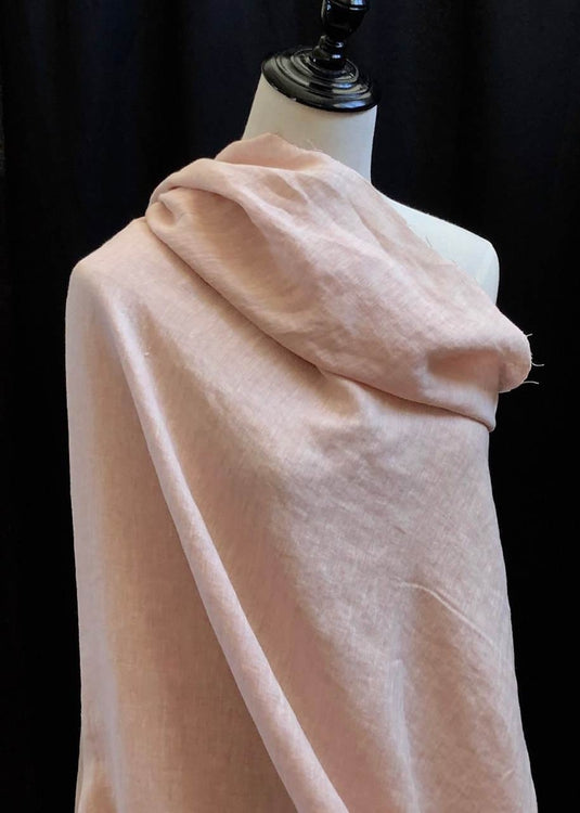 Laundered Linen Cross weave - Blush Pink