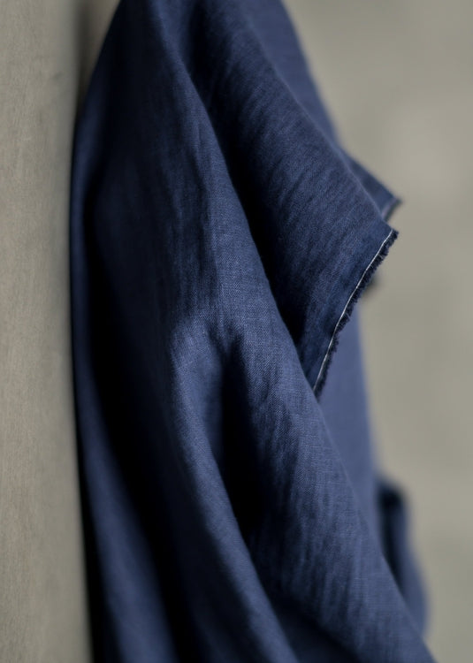 European Laundered Linen - Admiral Navy.