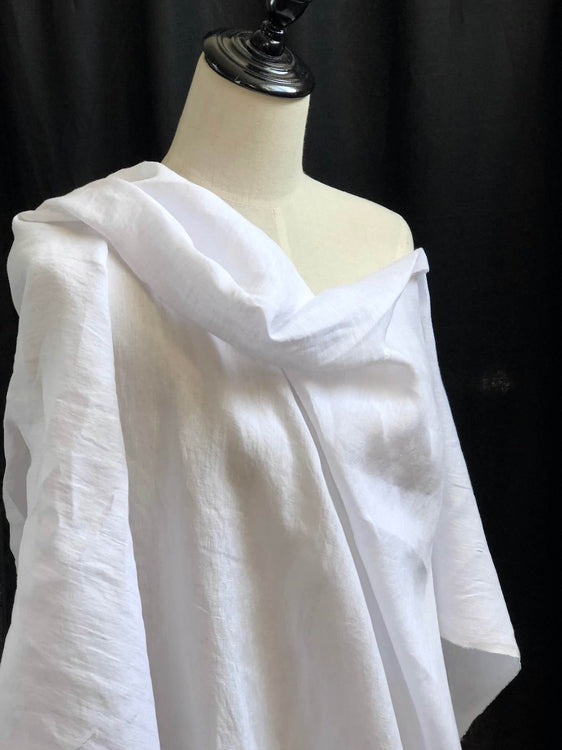 Light Weight Laundered Linen - Bright White