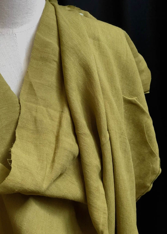 Light Weight Laundered Linen - Avocado Green