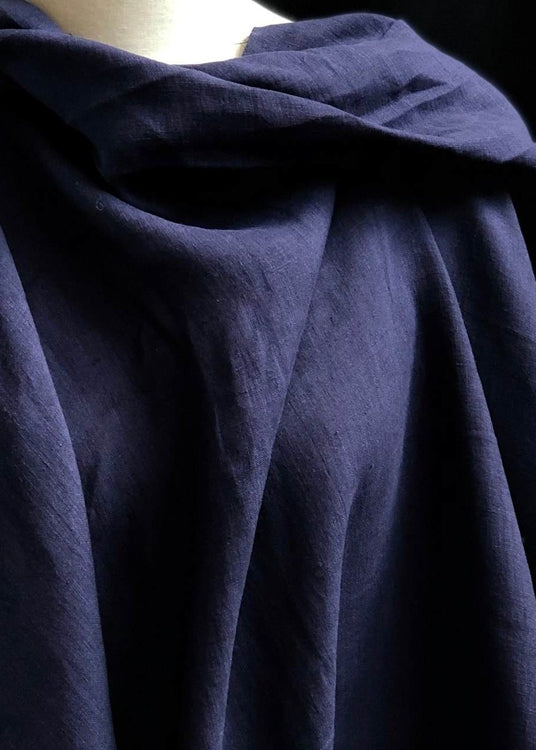 Light Weight Laundered Linen - Ink Blue