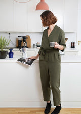 The Assembly Line - V-Neck Jumpsuit
