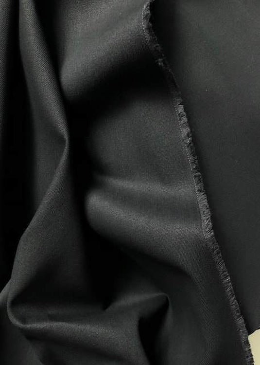 Rigid 9.5oz Cotton Twill - Black Black