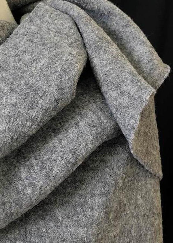 Boiled Wool, Grey Marl.