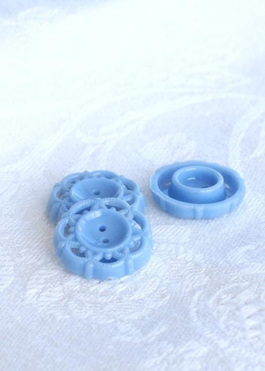 Vintage 1950's Buttons, Light Blue Large