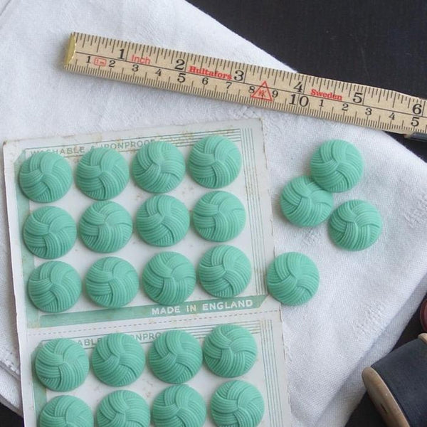 Vintage English Knot Buttons - Mint 23mm