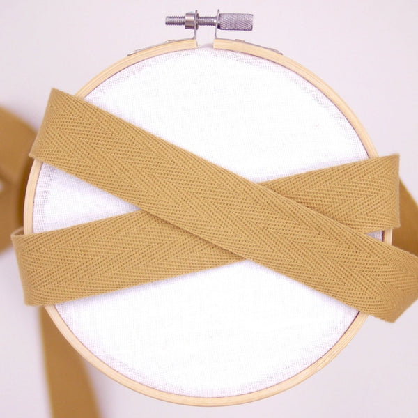 Cotton Twill Tape - Gold, 25mm