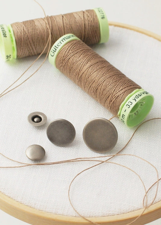Gutermann Topstitching Thread - Antique Nickel
