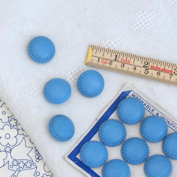 Vintage English Buttons - Blue