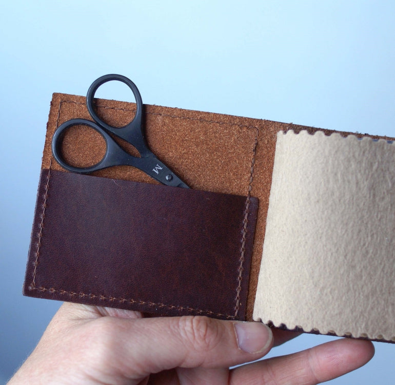 Leather Needle Wallet + Finest Needles and Baby Bow Scissors