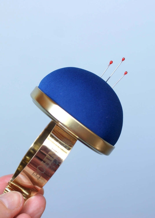 Bohin Wrist Pin Cushion - Deep Blue