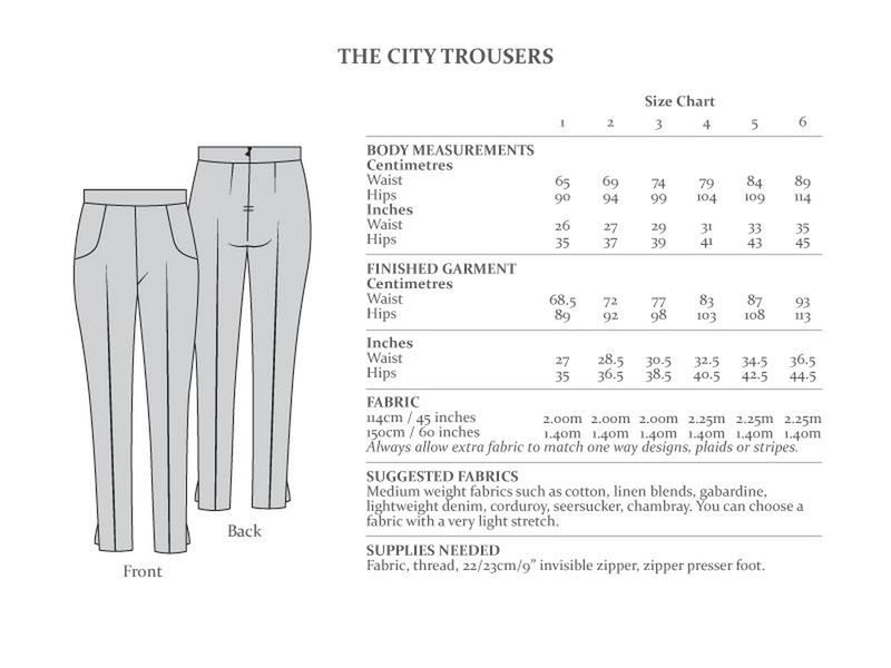 The Avid Seamstress - The City Trousers