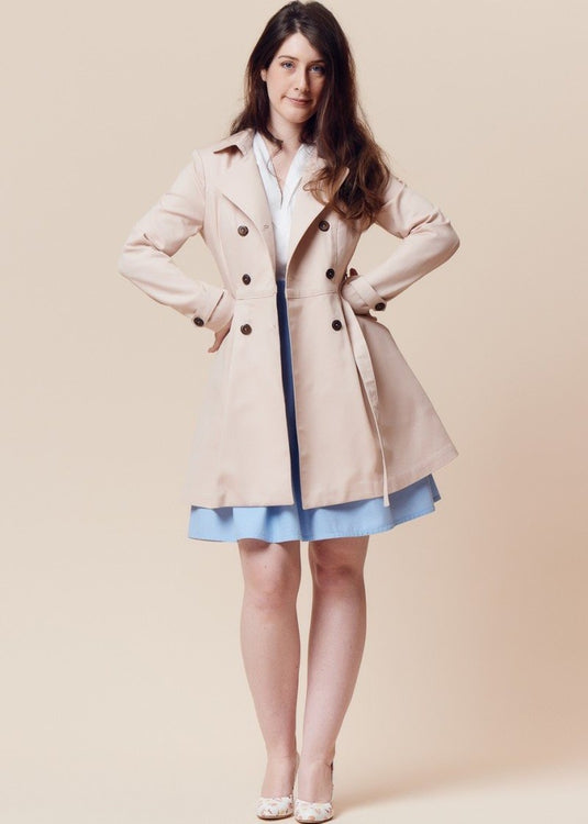 Deer and Doe Patterns - Luzerne Trench Coat