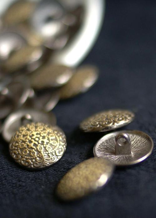 Metal Shank Buttons - Antique Bronze 17mm
