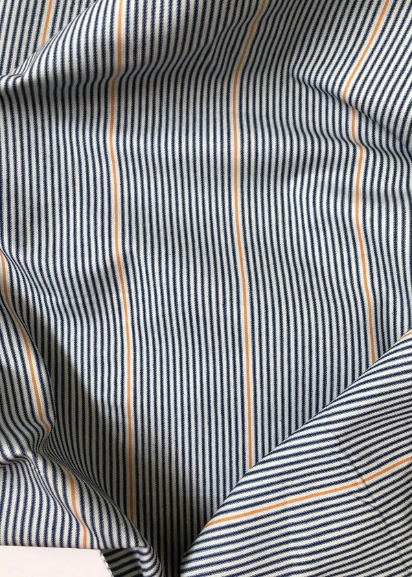 Striped Stretch Twill 7oz
