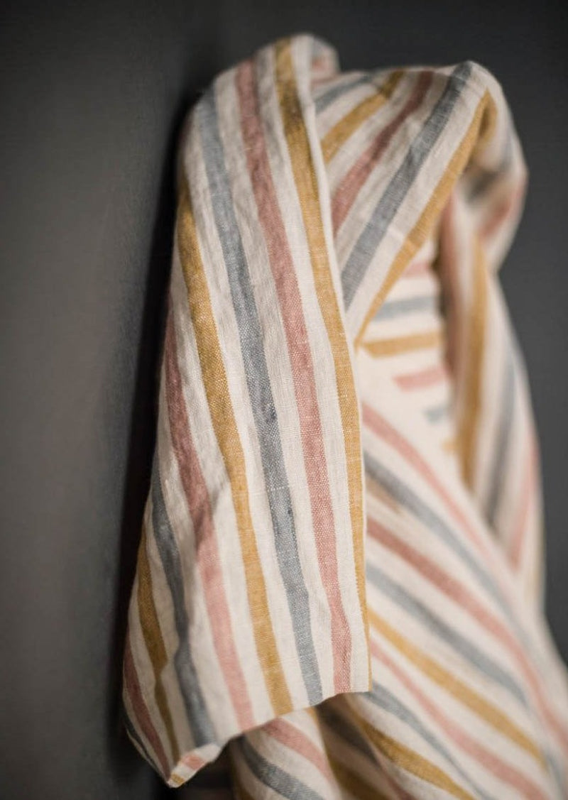 Suzy Stripe Laundered Linen