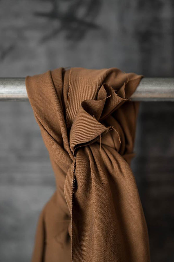 LAST PIECE! Heavy Weight Tencel Twill, Nut Brown