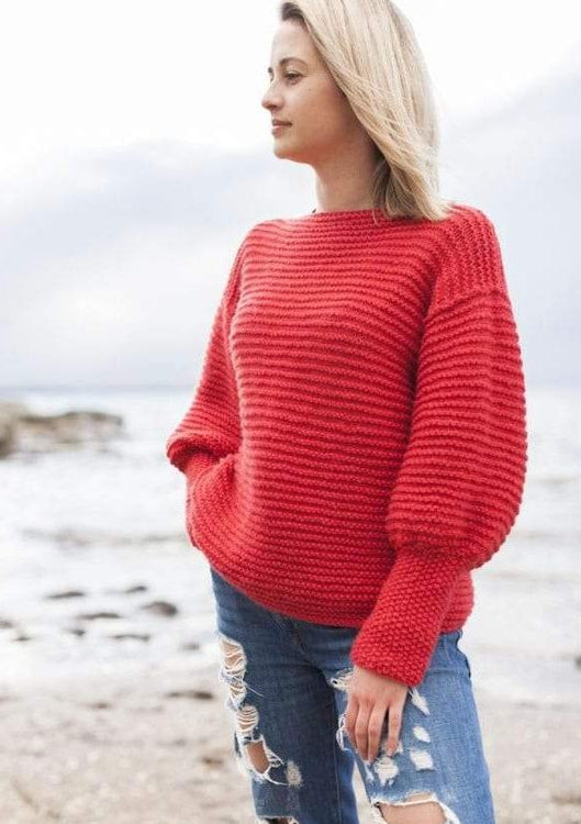 Eryn Chunky Jumper, The Woven Knitting Pattern