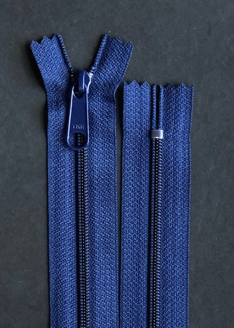 YKK Long Pull Closed End Zip, Navy
