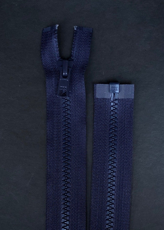YKK, Open Ended Zip.  Vislon 5. Navy