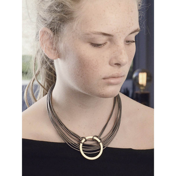 Tatiana Leather Necklace